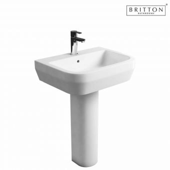 Britton Bathrooms Curve S30 Washbasin 50cm