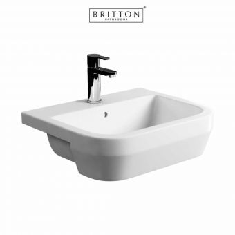 Britton Curve S30 Semi-recessed Basin 55cm