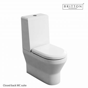 Britton Curve S30 Toilet with Angled Cistern Lid