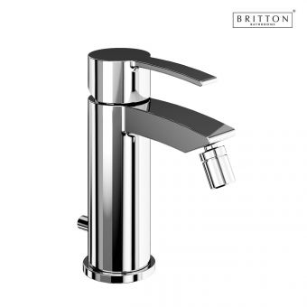 Britton Sapphire Bidet Mixer Tap with Pop-up Waste