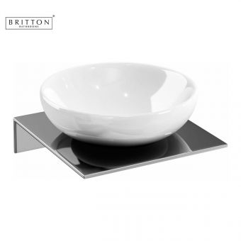 Britton Soap Dish and Stainless Steel Steel Shelf