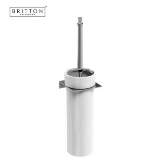 Britton Wall Mounted Toilet Brush in Ceramic Holder
