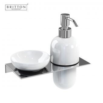 Britton Ceramic Soap Dish amd Soap Dispenser Set
