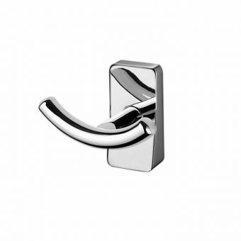 Inda Storm Chrome Double Robe Hook - A0720BCR
