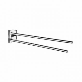 Inda Storm Adjustable Double Towel Rail