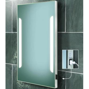HIB Zenith Back-lit Mirror with Shaver Socket