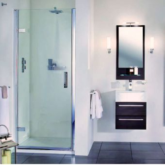 Aqata Spectra Hinged Door Shower Enclosure SP455 (Recess)