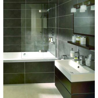 Aqata Spectra Hinged Bath Screen SP485