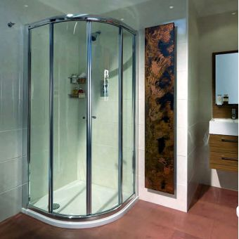 Quadrant Shower Enclosures With Single Amp Double Doors From