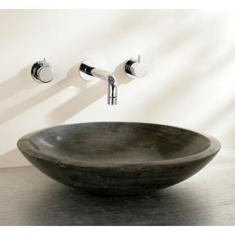 Finwood Designs Shallow Stone Countertop basin