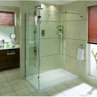 Aqata Spectra Walk In Shower Enclosure SP410 (Corner)