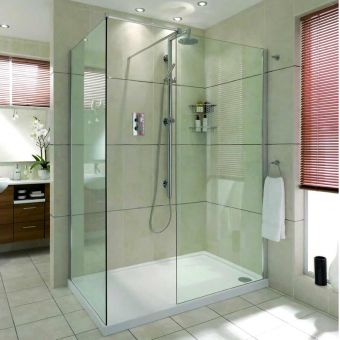 Aqata Spectra Walk-In Corner Shower Enclosure SP405