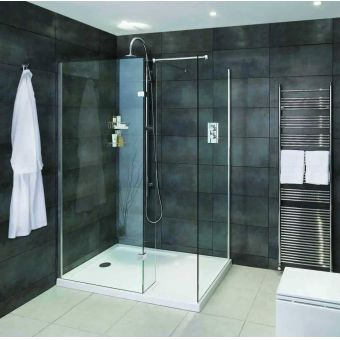 Aqata Spectra Walk-in Shower Enclosure with Hinged Panel SP425 (Corner)