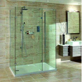 Aqata Spectra Walk-in 3 sided Shower Enclosure SP435