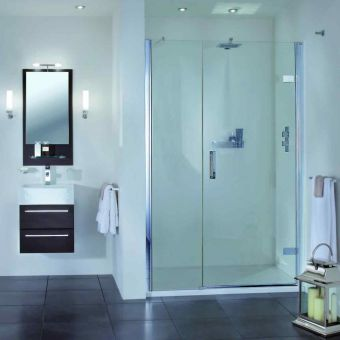 Aqata Spectra Hinged Shower Door & Inline Panel SP457 (Recess)