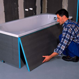 Wedi Contemporary Bath End Panel