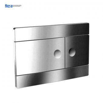 Roca Duplo 820 Polished Chrome Dual Flush Operating Panel