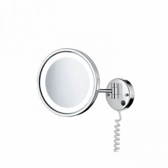 Smedbo Swing Arm shaving Mirror with LED Lighting