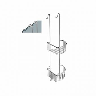 Smedbo Sideline Double Corner Shower Basket