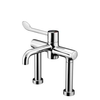 Armitage Shanks Markwik Insulate Thermostatic Pillar Basin Mixer Tap