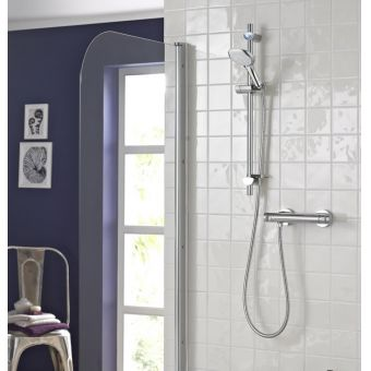 Bristan Artisan Thermostatic Surface Mounted Bar Shower Valve and Multi Function Handset