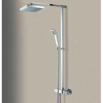 Bristan Quadrato Exposed Fixed Head Bar Shower with Diverter & Kit
