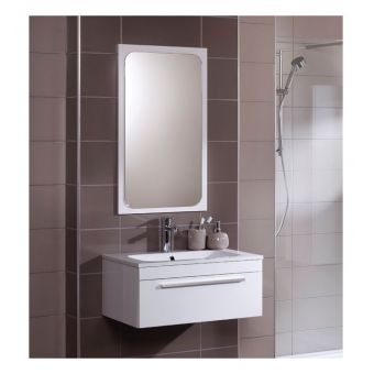 Noble Quatro Contemporary Curved Bathroom Mirror