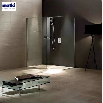 Matki Wet Room Walk-In Enclosure with Side Panel