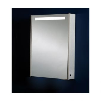 Phoenix Mercury Single Door Aluminium Mirror Cabinet