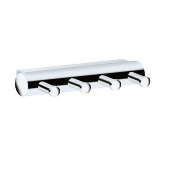 Keuco Plan Towel Hook Panel - with four hooks