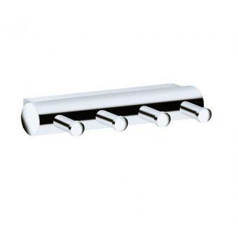 Keuco Plan Towel Hook Panel - with four hooks - 14913010000