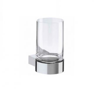 Keuco Plan Tumbler Holder - complete with crystal glass tumbler