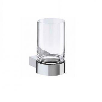 Keuco Plan Tumbler Holder - complete with crystal glass tumbler - 14950019000