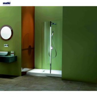 Matki  Curved Recess Walk-in Enclosure with Shower Control