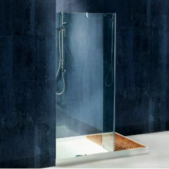 Matki Wet Room Single Panel With Return Including Shower Tray