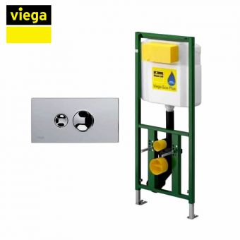 Viega S4 Eco Plus Framed Cistern and Visign for Style 10 Dual Flush Plate Package