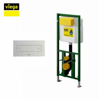 Viega S7 Eco Flush Front Flush 113cm Framed Cistern and Visign for Style 12 Flush Plate