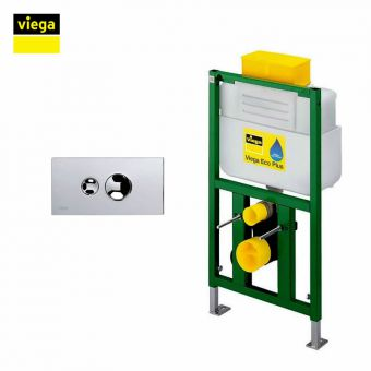 Viega S6 Eco Plus Top Flush Framed Cistern & Visign for Style 10 Flush Plate Package