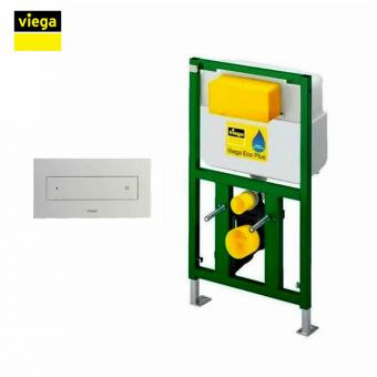 Viega S8 Eco Flush 83cm Front Flush Framed Cistern and Visign for Style 12 Dual Flush Plate