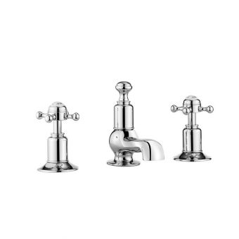 Crosswater Belgravia 3 Hole Basin Mixer Set