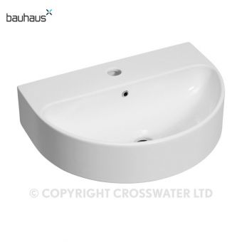 Bauhaus Celeste Curved Wall Mounted Basin