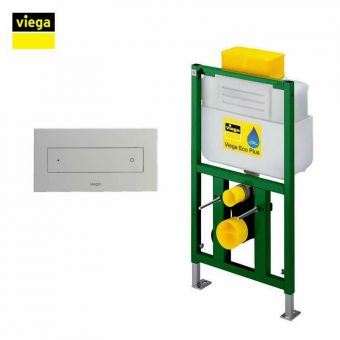 Viega S9 Eco Flush Top Flush Framed Cistern and Visign for Style 12 Dual Flush Plate