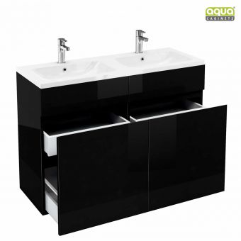 Aqua Cabinets D450 Two Drawer Cabinet with 1200mm Double Basin