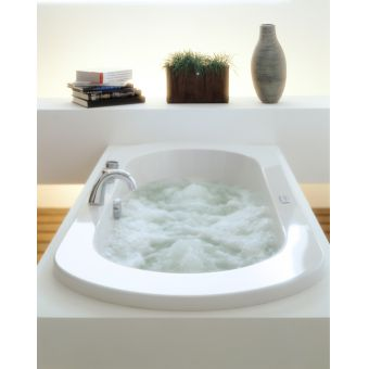 Adamsez Status i Large Inset Bath .1950(w) X 830(d) X 520/615(h)mm - double ended large inset bath