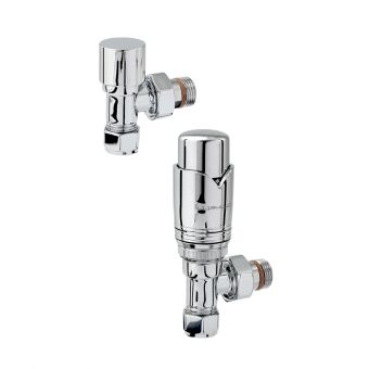 Zehnder Chromax Angled Thermostatic Radiator valves