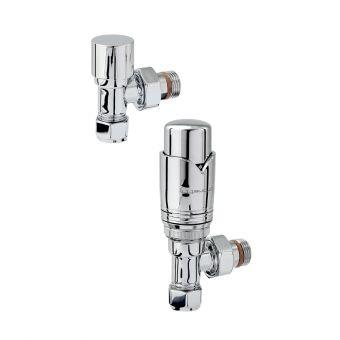 Zehnder Chromax Angled Thermostatic Radiator valves - VALSET9CR