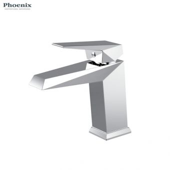 Phoenix Heidi Monobloc Basin Mixer Tap with Push Waste