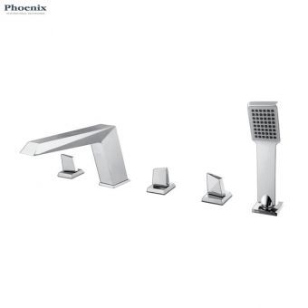Phoenix ID Series 5 Hole Deck Mounted Bath Shower Mixer Set