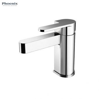 Phoenix Foxie Monobloc Basin Mixer Tap with Push Waste