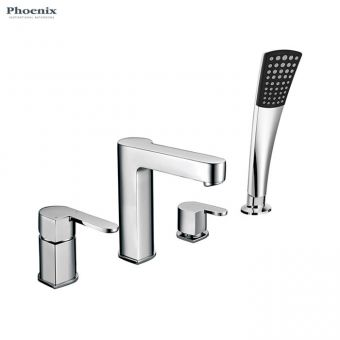 Phoenix Foxie 4 Hole Bath Shower Mixer Set